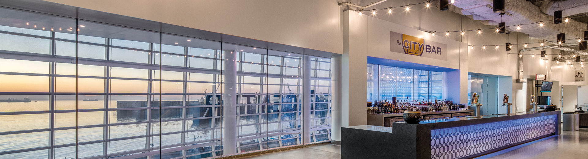 Chase Center upper concourse east view_photo credit Jason O'Rear_Banner